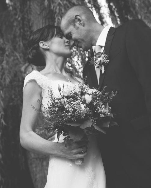 Brautpaar an der alten Turnhalle in Flonheim