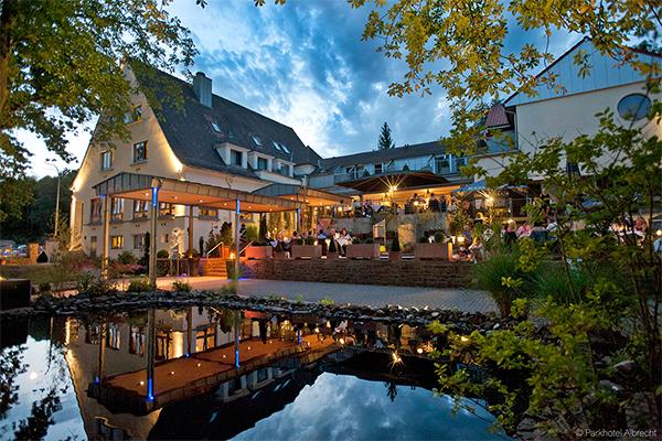 Außenanischt des Parkhotel Albrecht in Völklingen im schönen Saarland