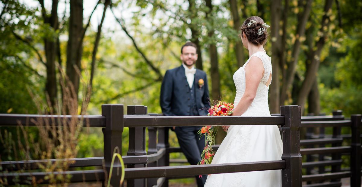 Brautpaarshooting im asiatischen Garten Lebach im Saarland